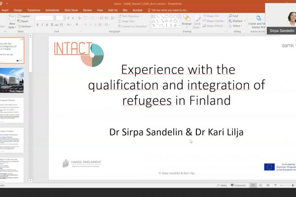 10 INTACT – Experience with the qualification and integration of refugees in finland – Sirpa Sandelin and Kari Lilja