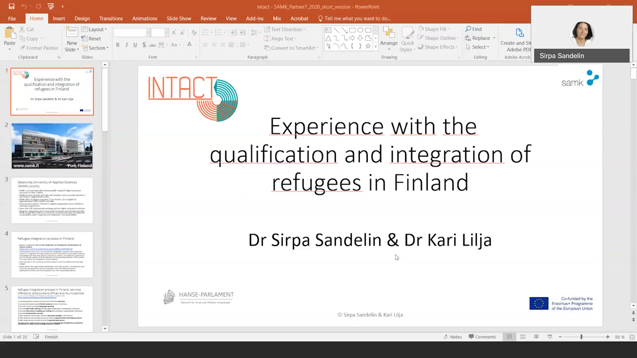 12 INTACT-Experience with the qualification and integration of refugees in finland-Sirpa Sandelin and Kari Lilja