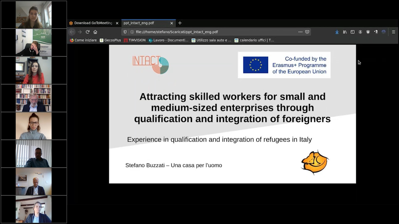 06 INTACT - Experience with the qualification and integration of refugees in Italy - Stefano Buzzati